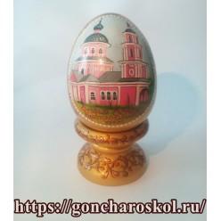 Яйцо с храмом. Золото.