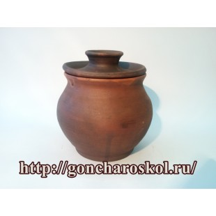 Керамический горшок с крышкой - 2