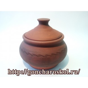 Керамический горшок с крышкой